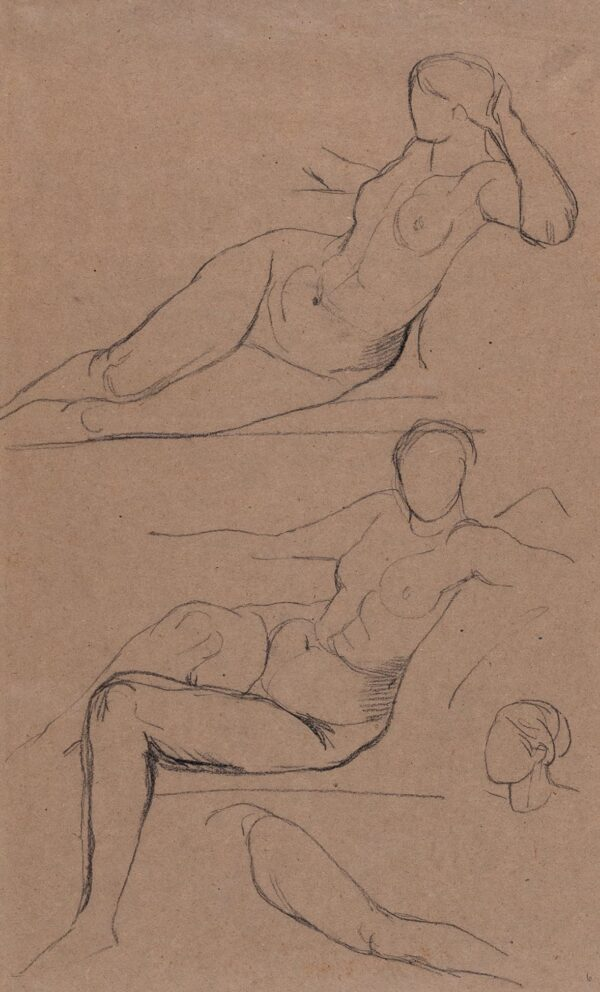 WATTS George Frederick O.M. R.A. (1817-1904) - Studies of the housemaid, 'Long Mary'.