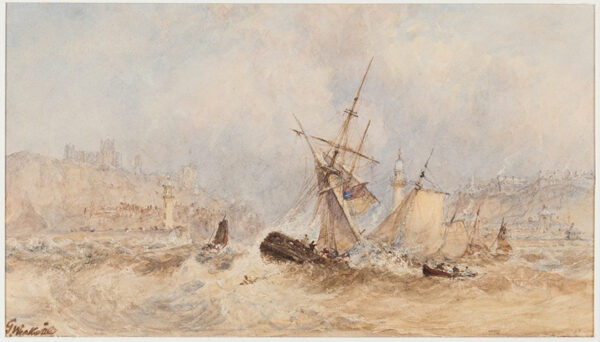 WEATHERILL George (1810-1890) - Shipping off Whitby.
