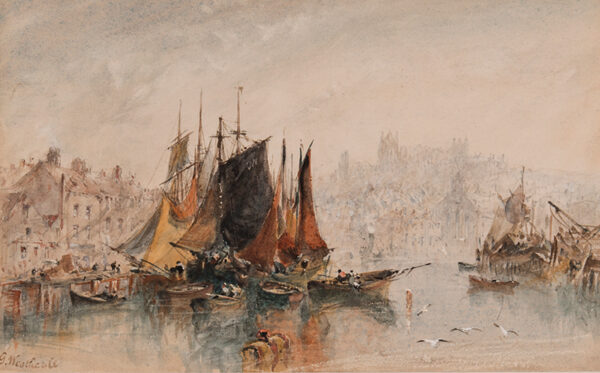 WEATHERILL George (1810-1890) - 'Whitby Harbour'.