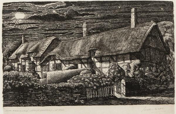 WEBB Joseph A.R.E. (1908-1962) - 'Anne Hathaway's cottage, Shottery'.