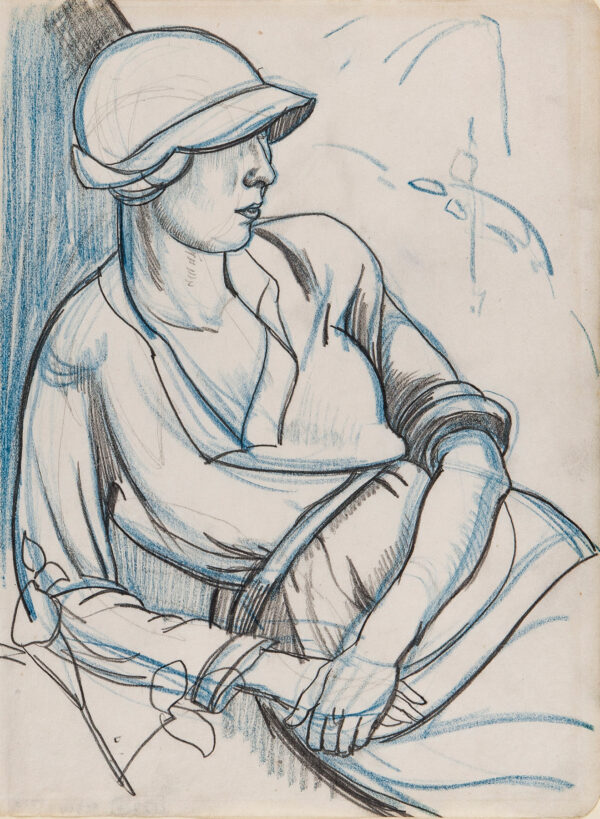 WEBB Clifford R.B.A. R.E. (1895-1972) - Lounging Flapper.