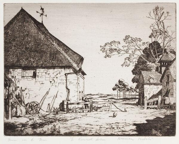 WEBSTER Norman R.E. (b.1924) - 'Farm in the Fens'.