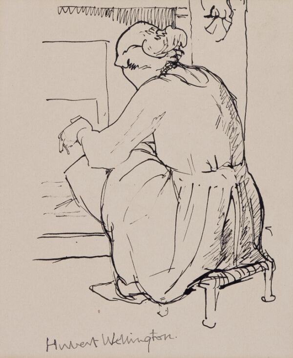 WELLINGTON Hubert (1879-1967) - 'Nancy making toast'.