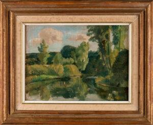 WELLINGTON Hubert (1879-1967) - Bessy-sur-Cure, near Autumn'.