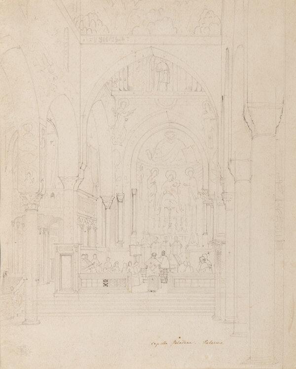 WERNER Carl (1808-1894) - Sicily: 'Cappella Palatina, Palermo'.