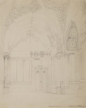 WERNER Carl Friedrich Heinrich (1808-1894) - Sicily: 'Rogerszimmer in Schloss Palermo' (sic).