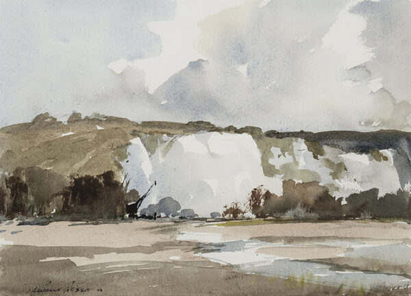 WESSON Edward (1910-1983) - The South Downs near Lewes.