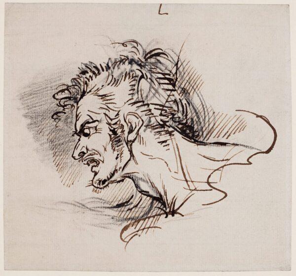 WEST Raphael Lamar (1766-1850) - A study of Fury.