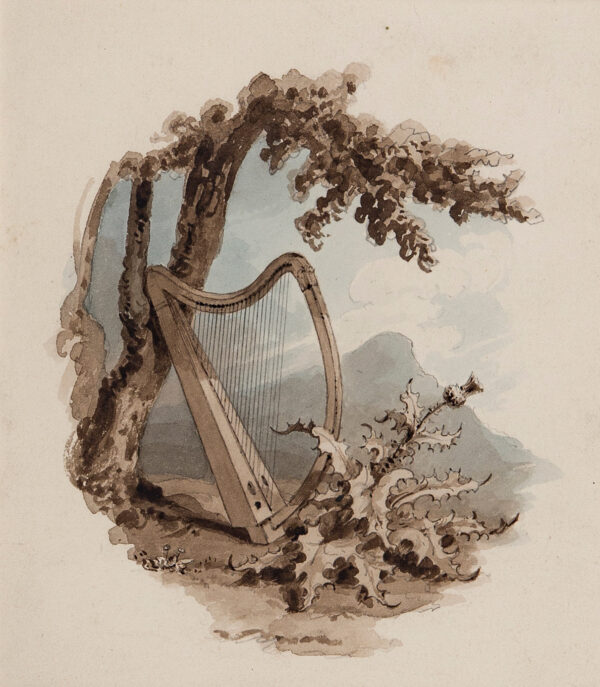 WESTALL Richard R.A. (1765-1836 - Frontispiece for a volume of Poetry, or Music.