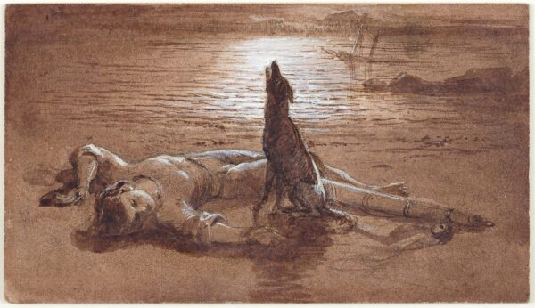 WESTALL Richard R.A. (1765-1836) (Circle of) - Faithful unto Death.