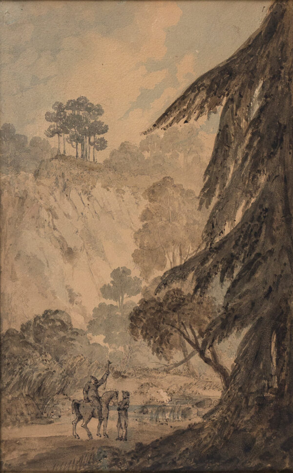 WESTMACOTT Sir Richard R.A. (1775-1856) (Attributed to) - Kiery Crags, near Blair Adam, Kinross.