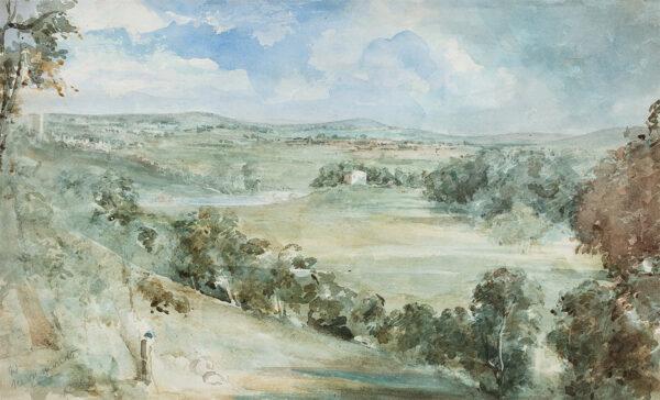 WESTMACOTT Richard Jnr R.A. (1799-1872) - 'Near Monmouth'.