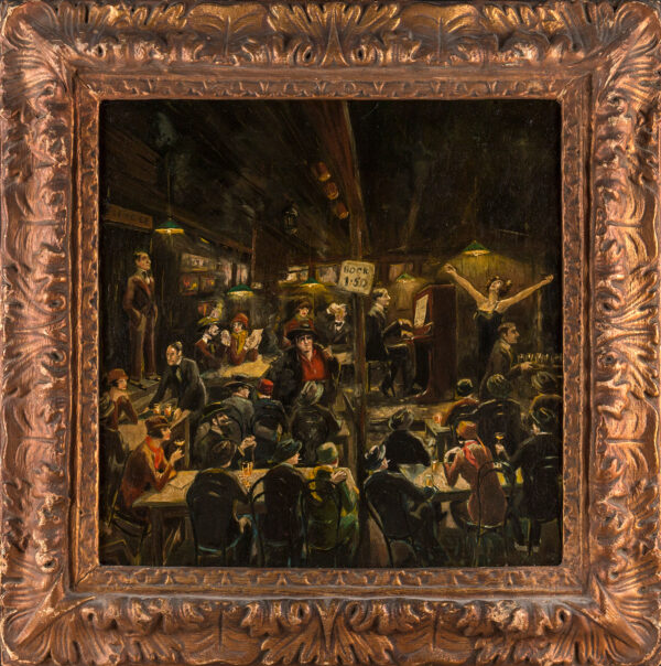 WESTON Robert Harris (Patrick) (1878-1936) - 'The Montmartre Cabaret, Aristide Bruant's Cabaret, from memory'.