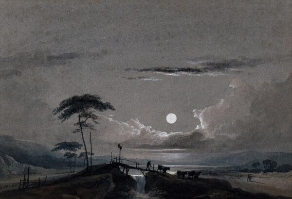 WHICHELO John M. (1784-1865) - Moonlit caprice.