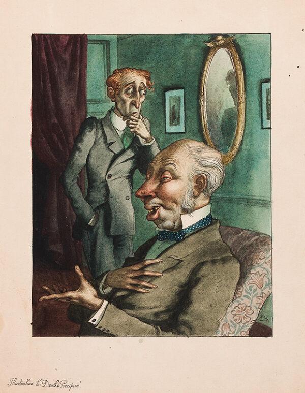 "WHISTLER Rex (1905-1944) - 'Illustration to ""Deaths Precipice"" ' (W&F."