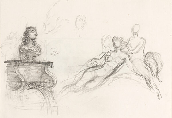 WHISTLER Rex (1905-1944) - Page of figure and bust studies (Not W&F).