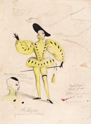 WHISTLER Rex (1905-1944) - 'Page's costume', design for the ballet 'Birthday of the Infanta'.