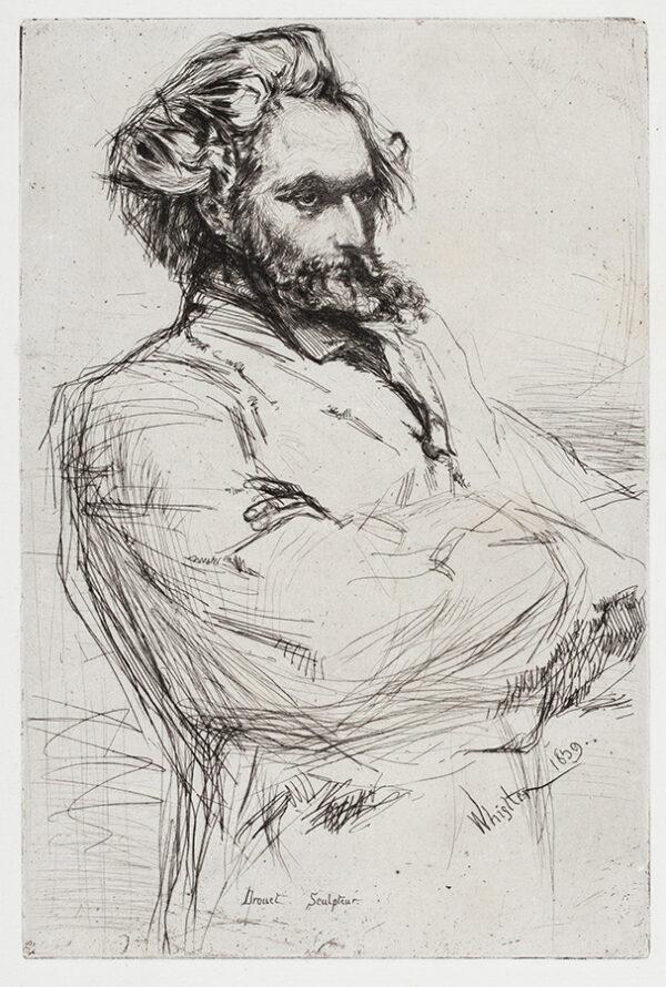 WHISTLER James McNeill (1834-1903) - 'Drouet ; Sculpteur' (K.