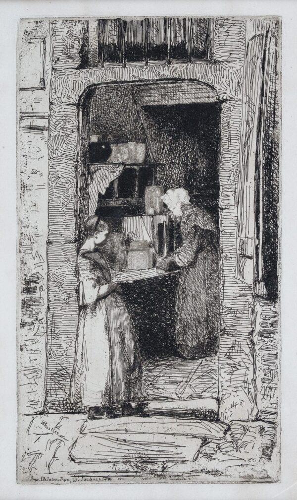 WHISTLER James Abbott McNeill Whistler (1834-1903) - 'La Marchande de Moutarde' (K.