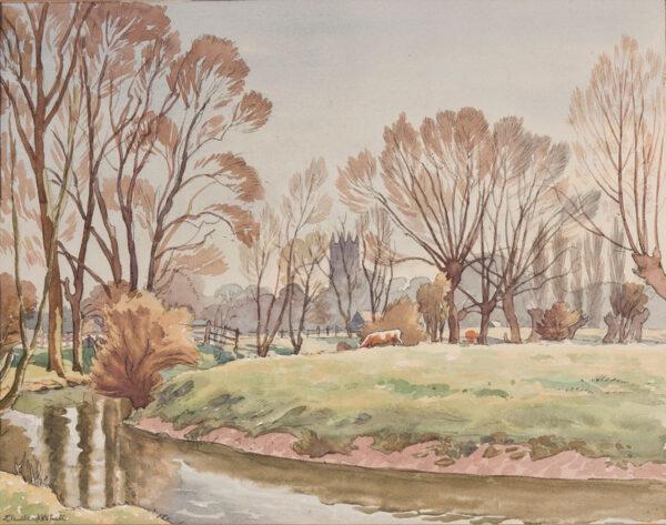 WHITE Ethelbert N.E.A.C. R.W.S. L.G. S.W.E. (1891-1972) - Suffolk / Essex.