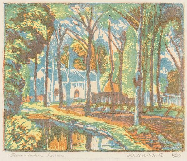 WHITE Ethelbert N.E.A.C. R.W.S. L.G. S.W.E. (1891-1972) - 'Swanburn Farm'.