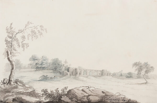 WHITE ( ?W ) Early 19th century. - 'The entrance to the Rajah's garden at Tilinkeery(?) Nagpoor'.