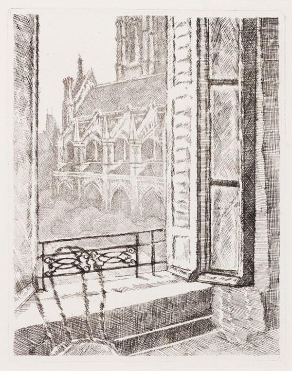 WHITE Gabriel (1902-1988) - 'Dieppe: window 0n St Jacques'.
