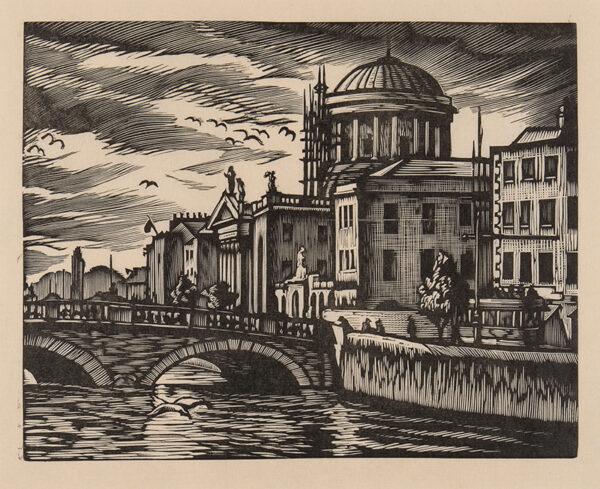 WHITE Ethelbert N.E.A.C. R.W.S. L.G. S.W.E. (1891-1972) - 'The Four Courts, Dublin' (C.
