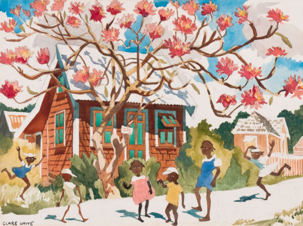WHITE Clare (1903-1997) - The children on the street, Barbados.