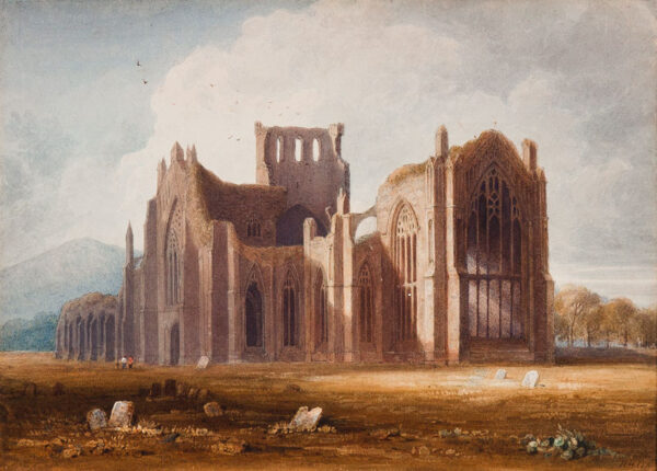 WHITE Henry Hopley (1790-1867) - 'Melrose Abbey'.