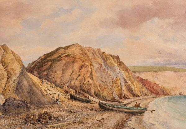 WICHELO John M (1784-1865) - 'The Chine, Alum Bay': Isle of Wight.