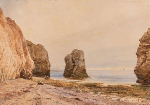 WICHELO John M (1784-1865) - 'The Arch and Stag Rocks, Freshwater Gate'; Isle of Wight.