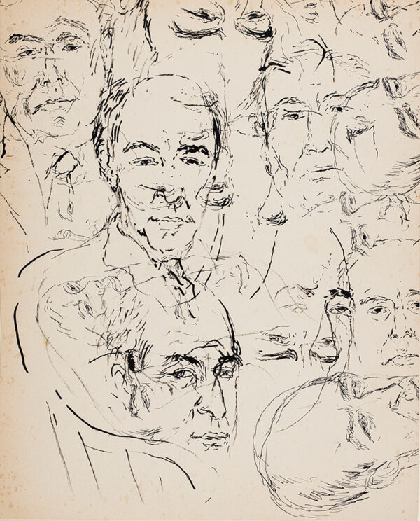 WILCZYNSKI Katerina (1894-1978) - Studies of the Greek Scholar, Poet and Collector, Professor John Mavrogordato (1882-1970) Pen and ink.