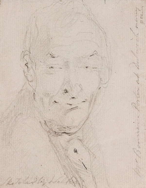 WILKIE Sir David R.A. (1785-1841) - 'Mr B(xxx), Porter at Dulwich many years / sketched by Wilkie'.