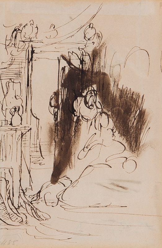 WILKIE Sir David R.A. (1785-1841) - Sketch for 'Peep O'Day Boy's Cabin in the West of Ireland' (Tate Britain).
