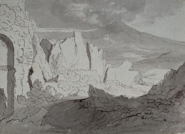 WILLIAM Hugh William 'Grecian' (1773-1829) - 'Ruins of Tusculum'.
