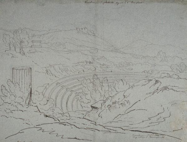 WILLIAM Hugh William 'Grecian' (1773-1829) - 'Tusculum – Amphitheatre dug out by L.
