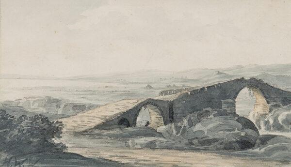 WILLIAMS Hugh William 'Grecian' (1773-1829) - 'Devils Bridge looking towards the sea – River Anda'.
