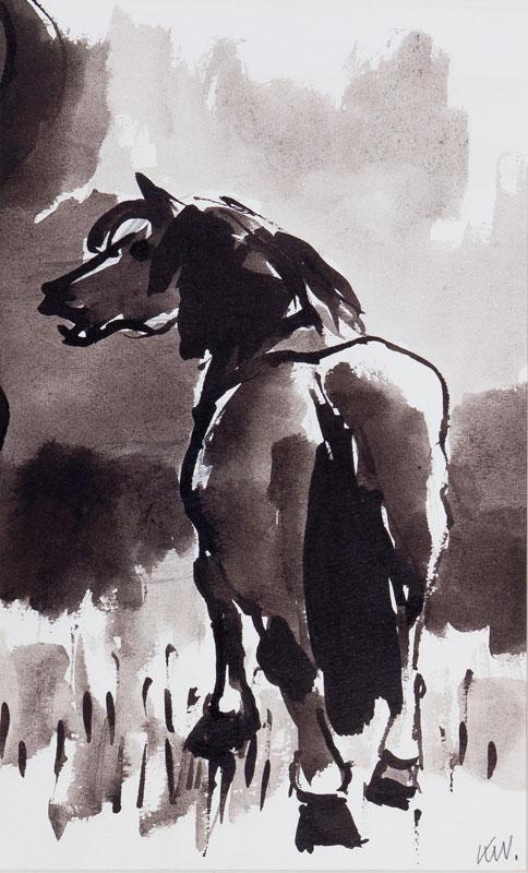 WILLIAMS Sir Kyffin R.A. (1918-2006) - Welsh pony.