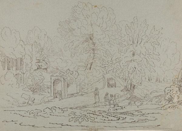 WILLIAMS Hugh William 'Grecian' (1773-1829) - 'Between Albano and Lariccia' (sic).
