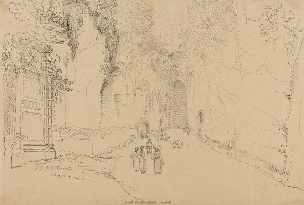 WILLIAMS Hugh William 'Grecian' (1773-1829) - 'Grotto of Pausilippo (sic) Naples'.