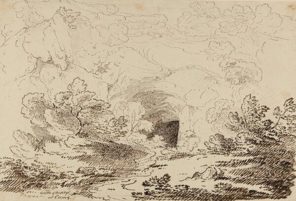 WILLIAMS Hugh William 'Grecian' (1773-1829) - 'Grotto of the Sibyl / at Cumae'.