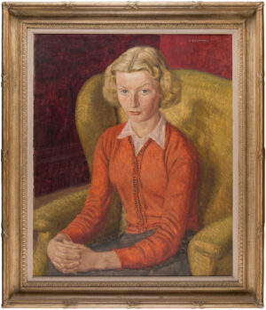 WILLIAMSON Harold (1898-1972) - Portrait of a lady.