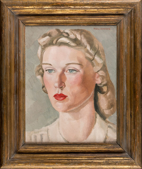 WILLIAMSON Harold (1898-1972) - Head of a Girl Oil on panel.