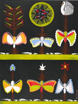 WILSON Scottie (1889-1972) - Birds, butterflies and fish.