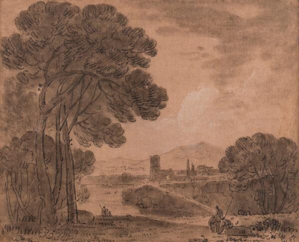 WILSON Richard R.A. (1714-1782) - Italian Capriccio.