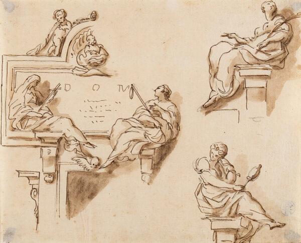 WILTON Joseph (1722-1803) - Studies for architectural sculpture.