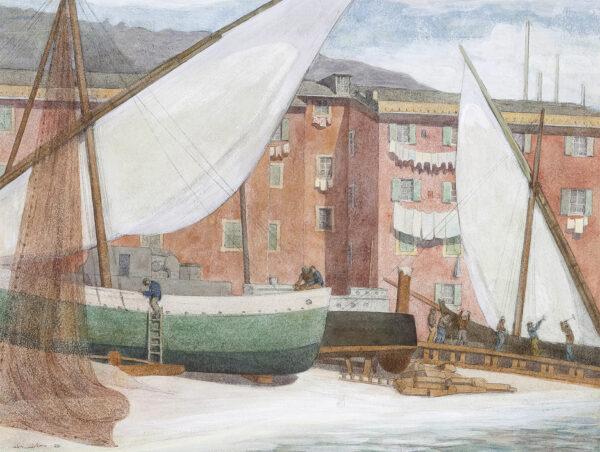 WINSLOW Henry (U.S.A. 1874-1955) - Santa Margherita Ligure.