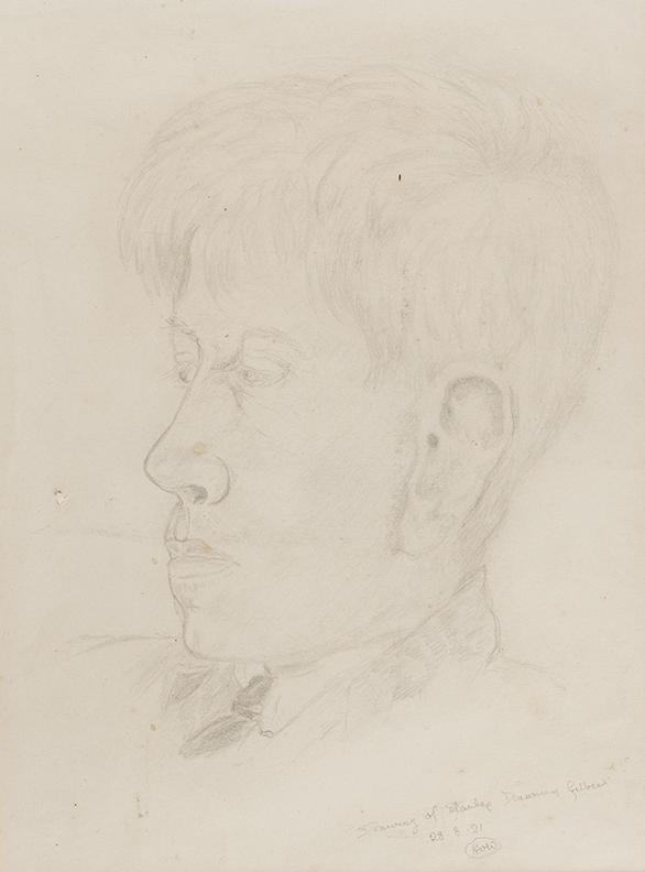 WINSOR Arthur - 'Drawing of Stanley Spencer drawing Gilbert'.
