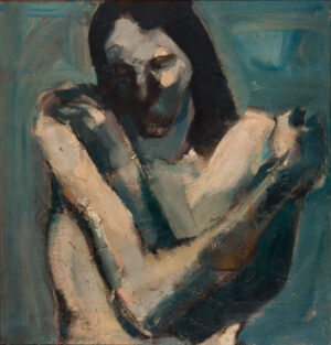 WISHAW Anthony R.A. (b.1930) - 'Woman with folded arms'.
